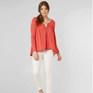NWT Free People KAI Thermal Henley Top S & M